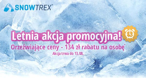 SnowTrex – rabat 134 zł na urlop zimowy