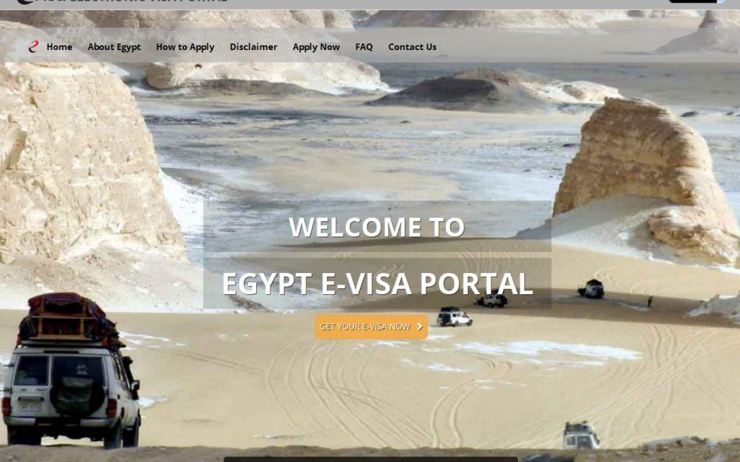 Wiza elektroniczna w Egipcie już możliwa e-visa formularz