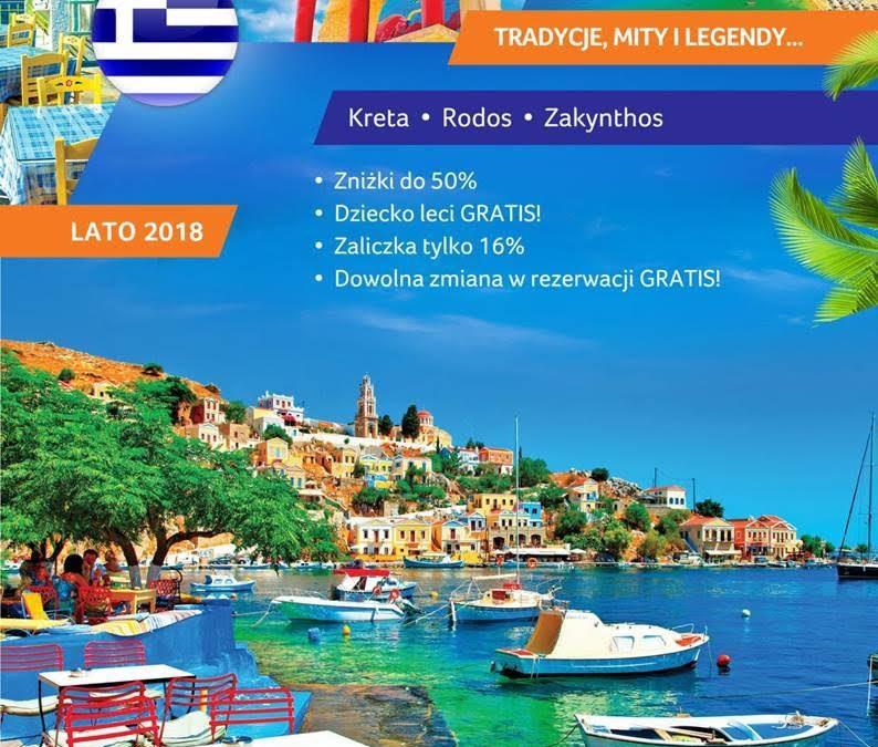 Sun Fun Grecja nowe niższe ceny w tzw tygodniu greckim tylko do 21.01.2018
