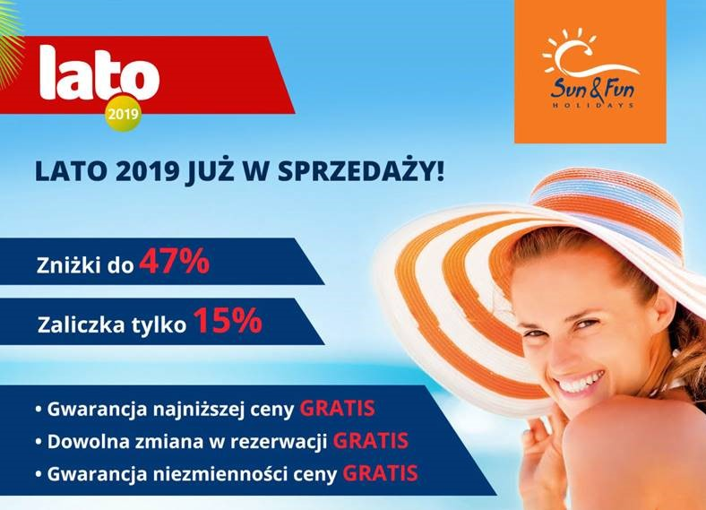 Sun & Fun promocja First Call nr 1 lato 2019 first minute Tunezja Djerba Turcja Egipt
