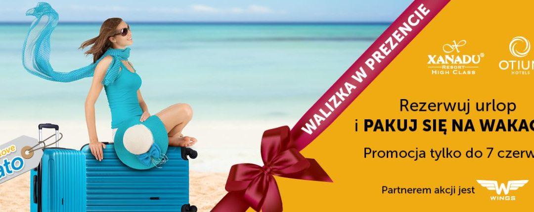 walizka w prezencie nowa promocja Wezyr / Coral do hoteli Otium Xanadu w Turcji
