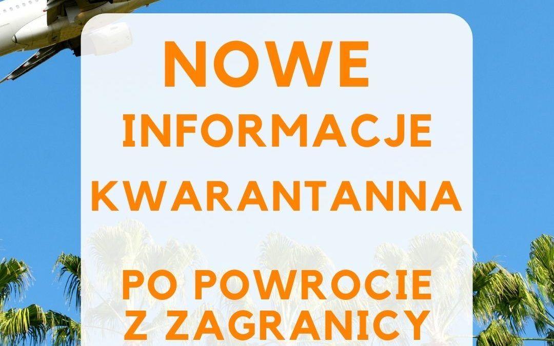 KWARANTANNA PO POWROCIE Z ZAGRANICY DO POLSKI. OBOSTRZENIA OD 30.03.2021 – TEST COVID-19